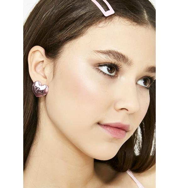 Cutie BB Heart Earrings