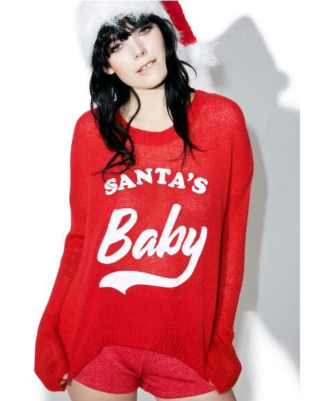 Santa's Baby Beach Bummies Sweater
