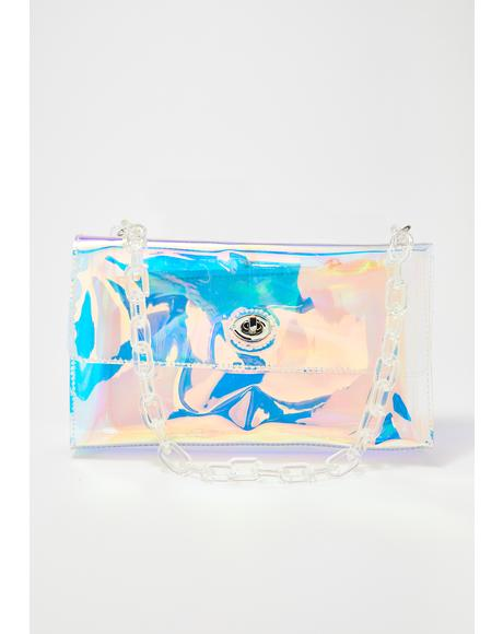 Hologram Plastic Chain Purse