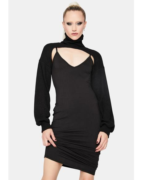 You're A Baddie Bodycon Dress And Shrug Set