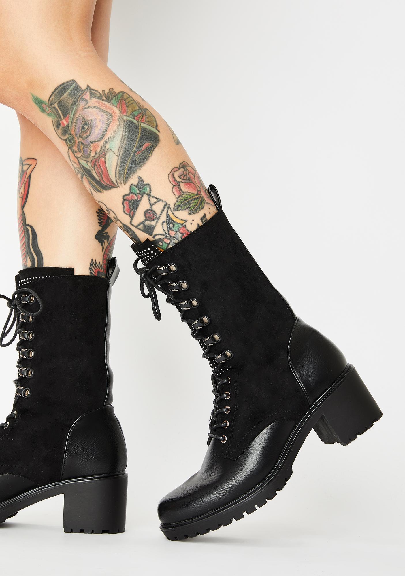 Glitz Brigade Lace Up Boots