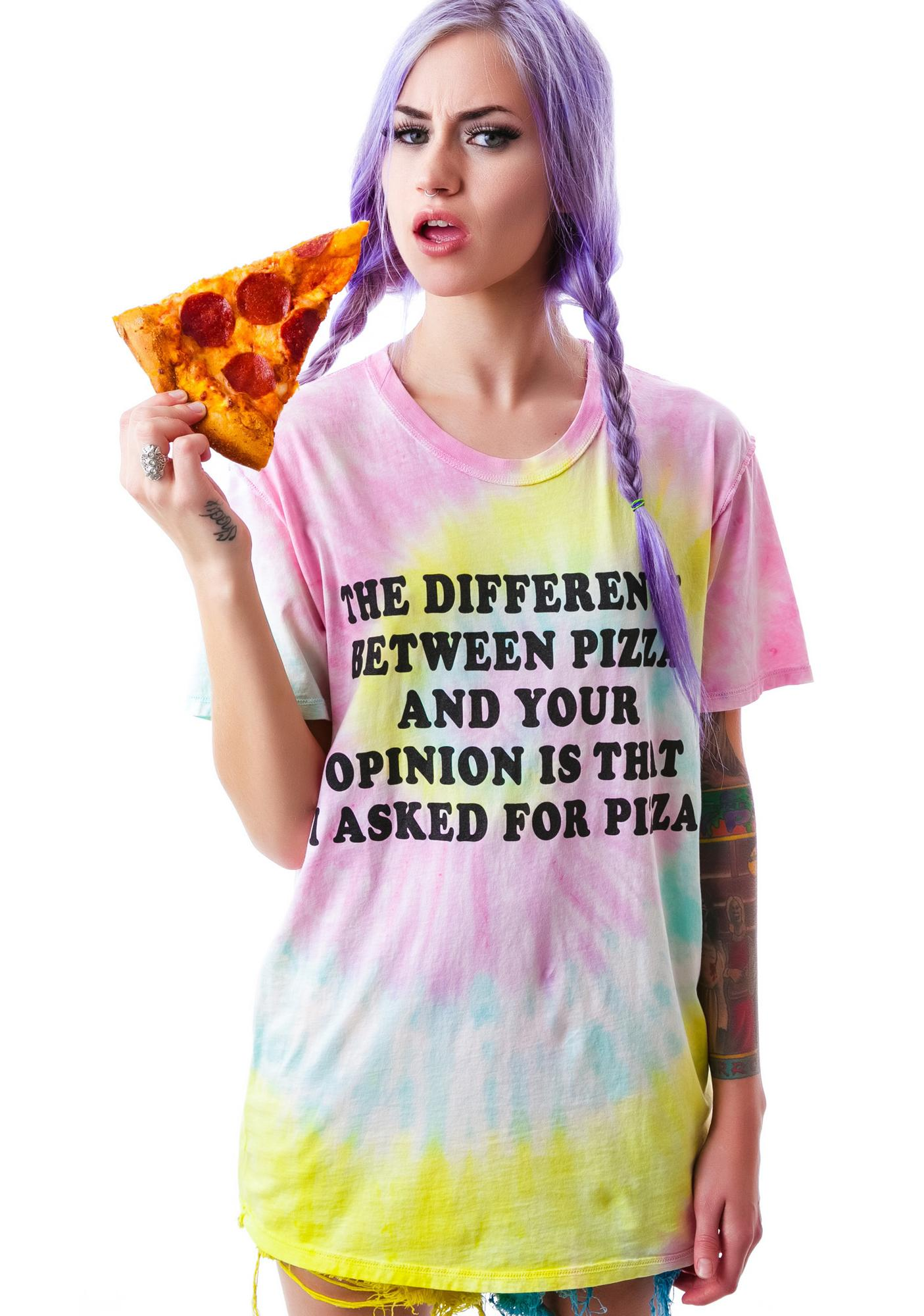 Jac Vanek Pizza V's Your Opinion Tee