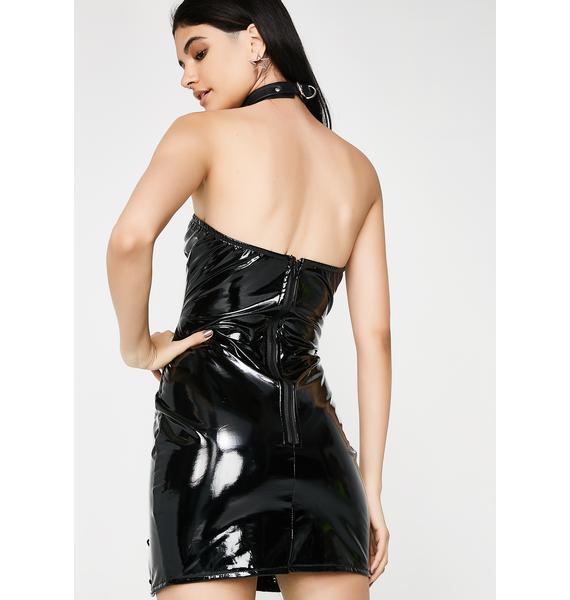 Come N' Get Me Vinyl Dress