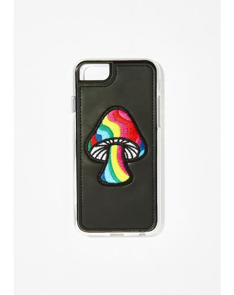 Shroom Embroidered iPhone Case
