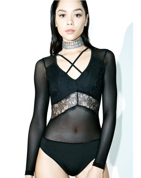 Be Wit You Mesh Bodysuit