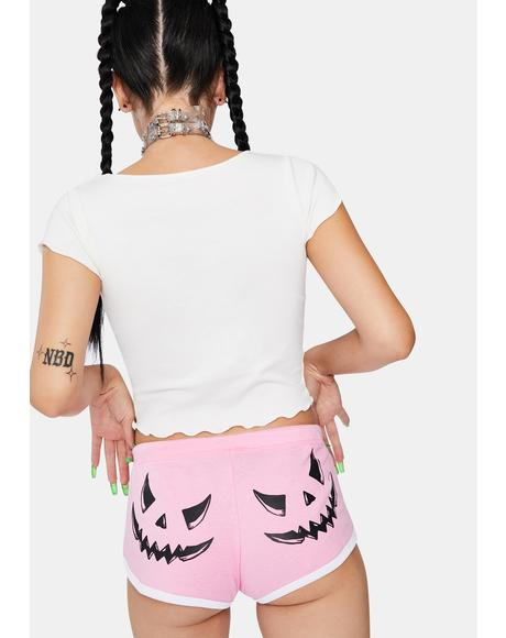 Candy Smack-O-Lantern Booty Shorts