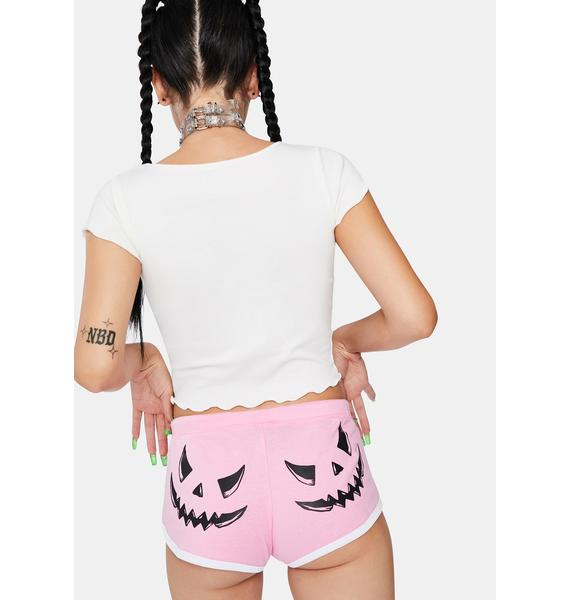 Too Fast Candy Smack-O-Lantern Booty Shorts