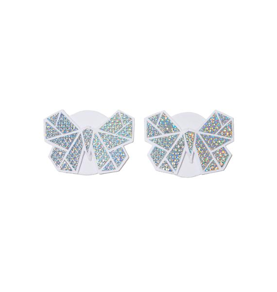Chrome Monarchy Holographic Butterfly Pasties