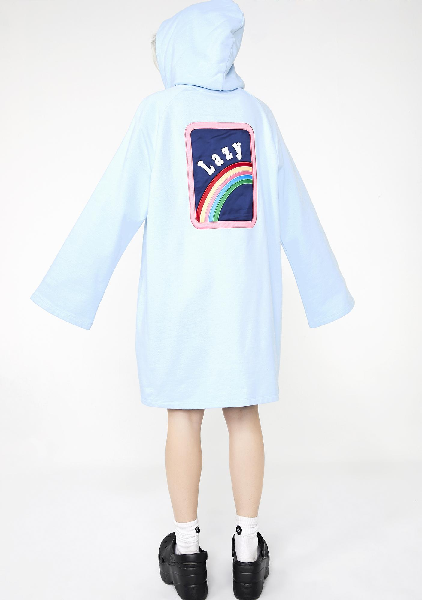 Lazy Oaf Over The Rainbow Hoodie Dress