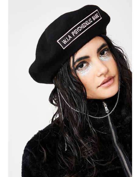 Psychedelic Babe Chain Beret