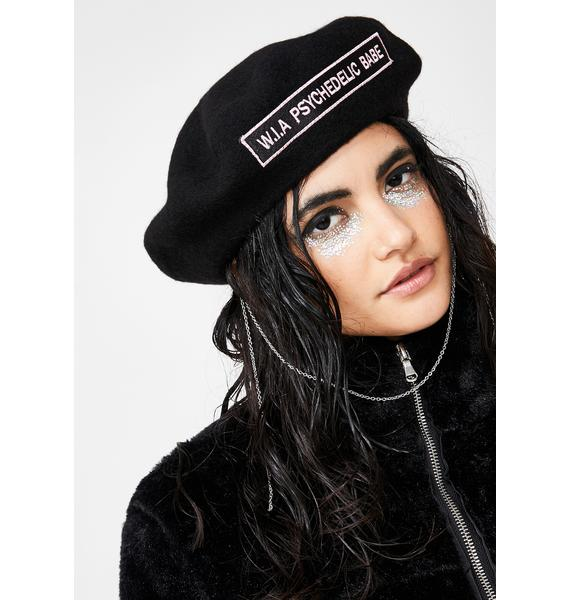 W.I.A Psychedelic Babe Chain Beret