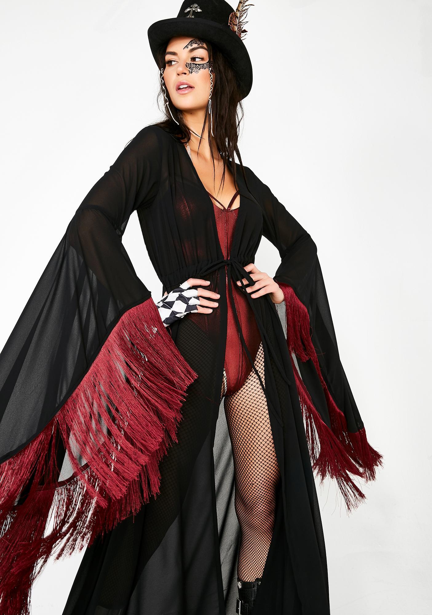 Five and Diamond Morticia Robe