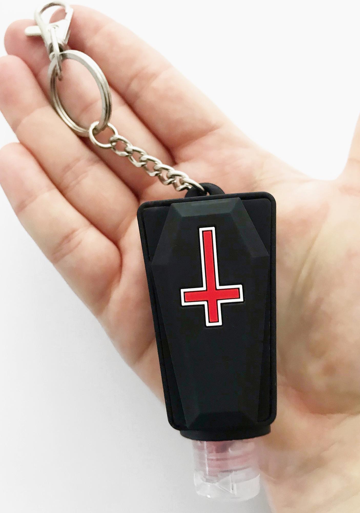 Memento Mori Goods Satanic Hand Sanitizer Keychain