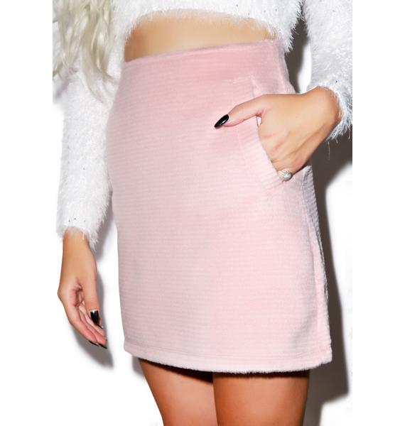 Motel Copper High Waisted Skirt