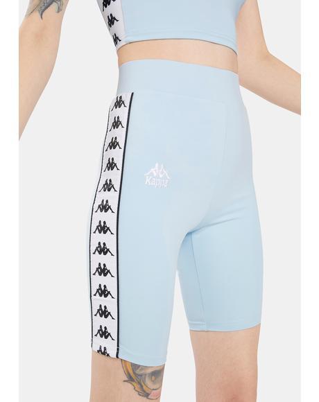 Blue 222 Banda Cicles 2 Biker Shorts