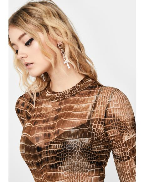 It's A Snap Crocodile Bodysuit