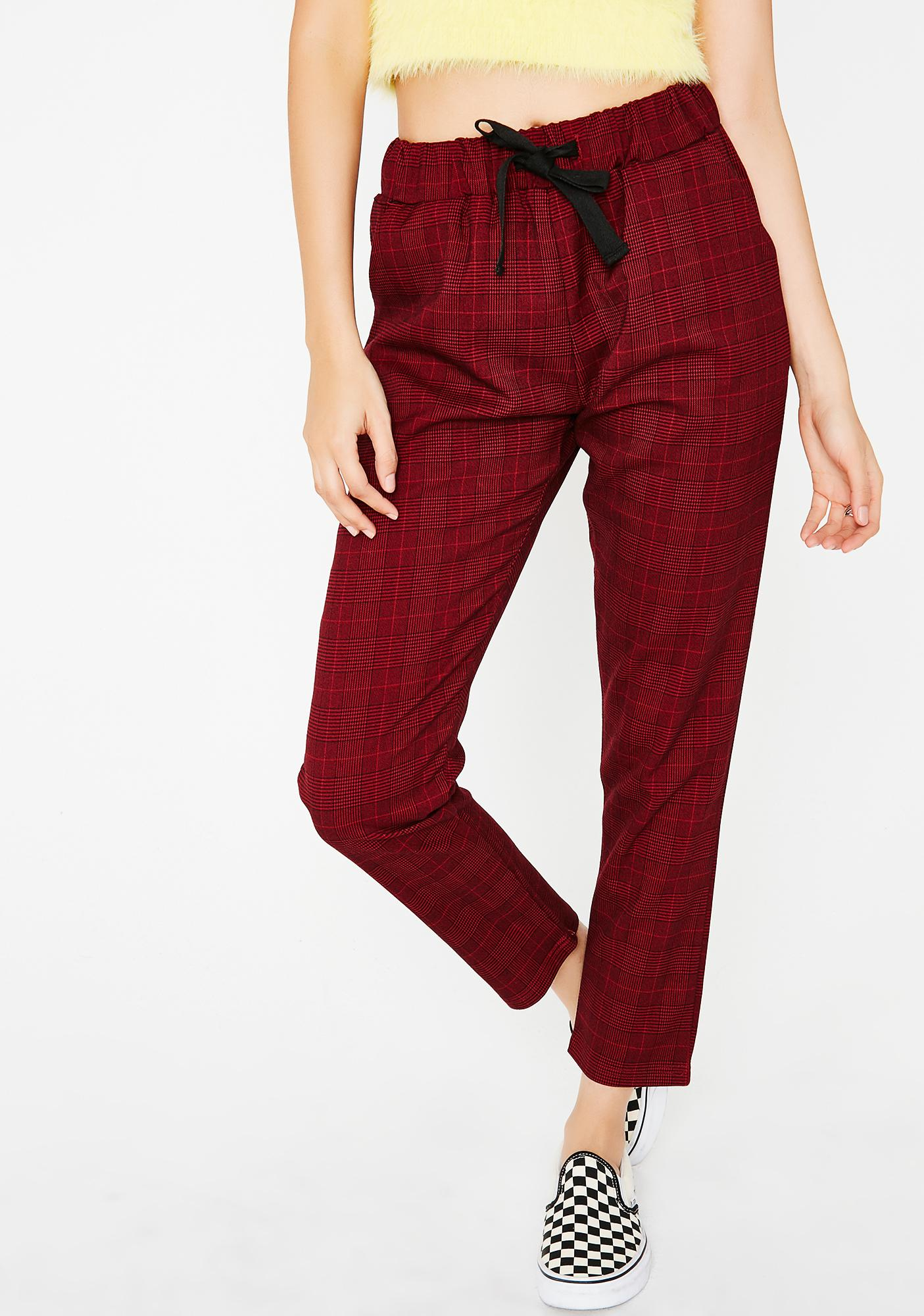 Heart Eyes Plaid Pants