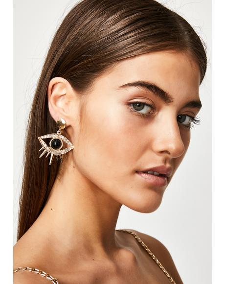 Future Cult Eye Earrings