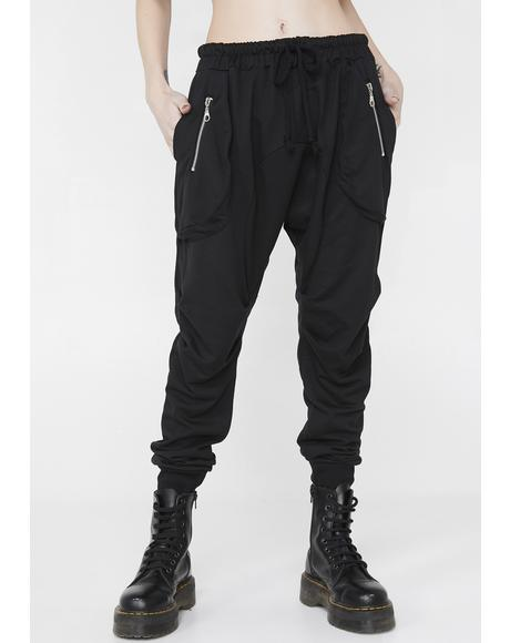 Sweet Revenge Drop-Crotch Joggers