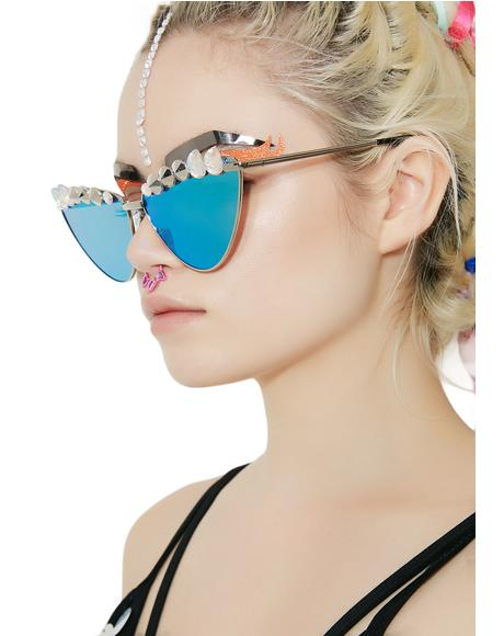 Robotic Rebel Cat Eye Sunglasses