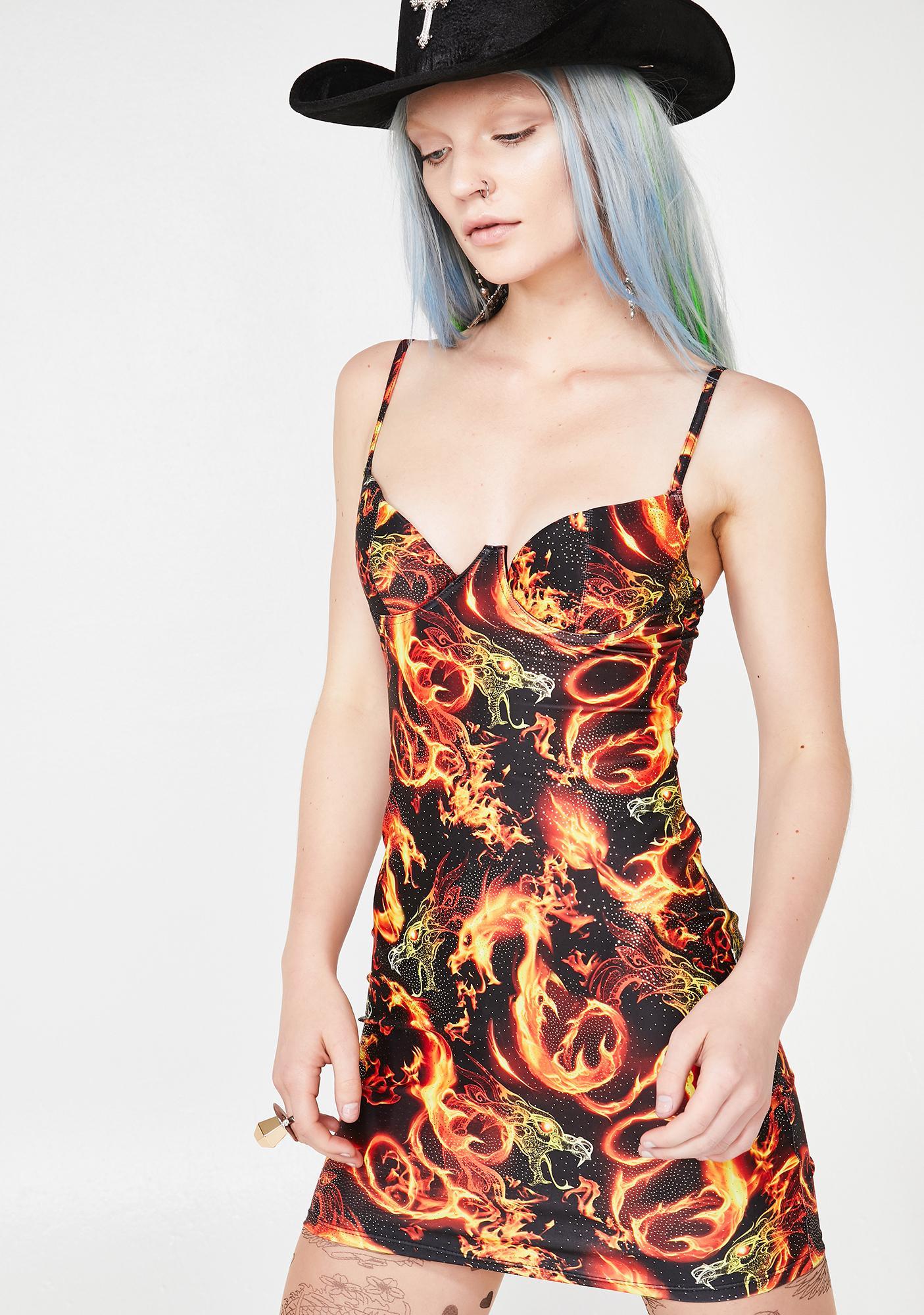 Jaded London Extreme Cup Beach Dress