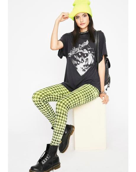 Never Grow Up Houndstooth Leggings