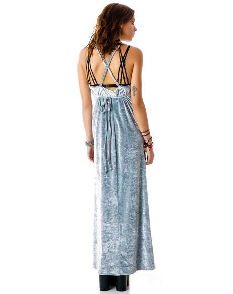 Silver Vixen Maxi Dress