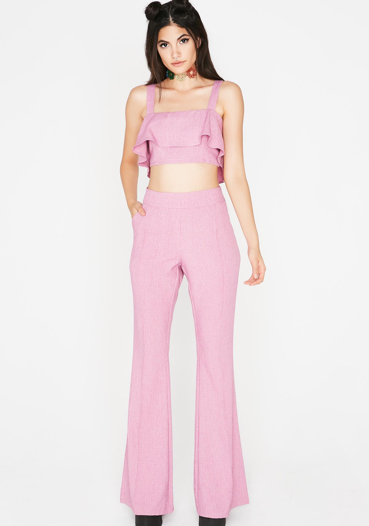 Sweet Wanted Woman Trouser Set
