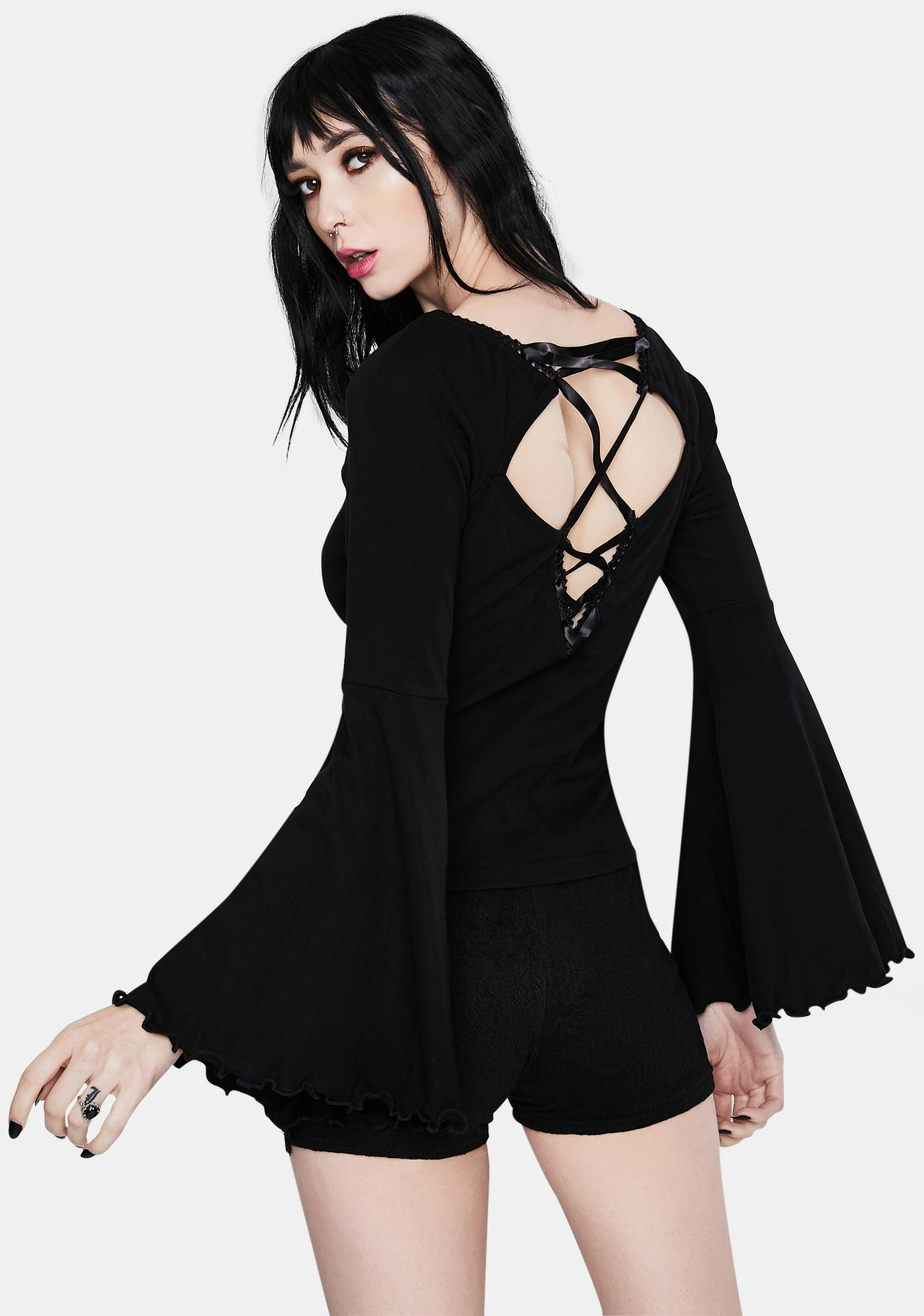 Dark In Love Three Hollow Bell Sleeves Shirt
