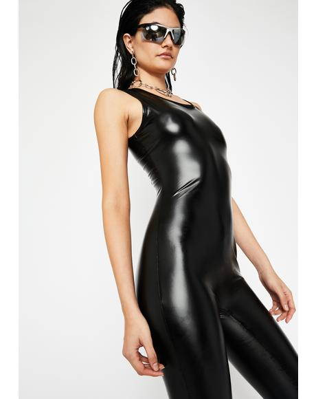 Hot Mess Coated Catsuit