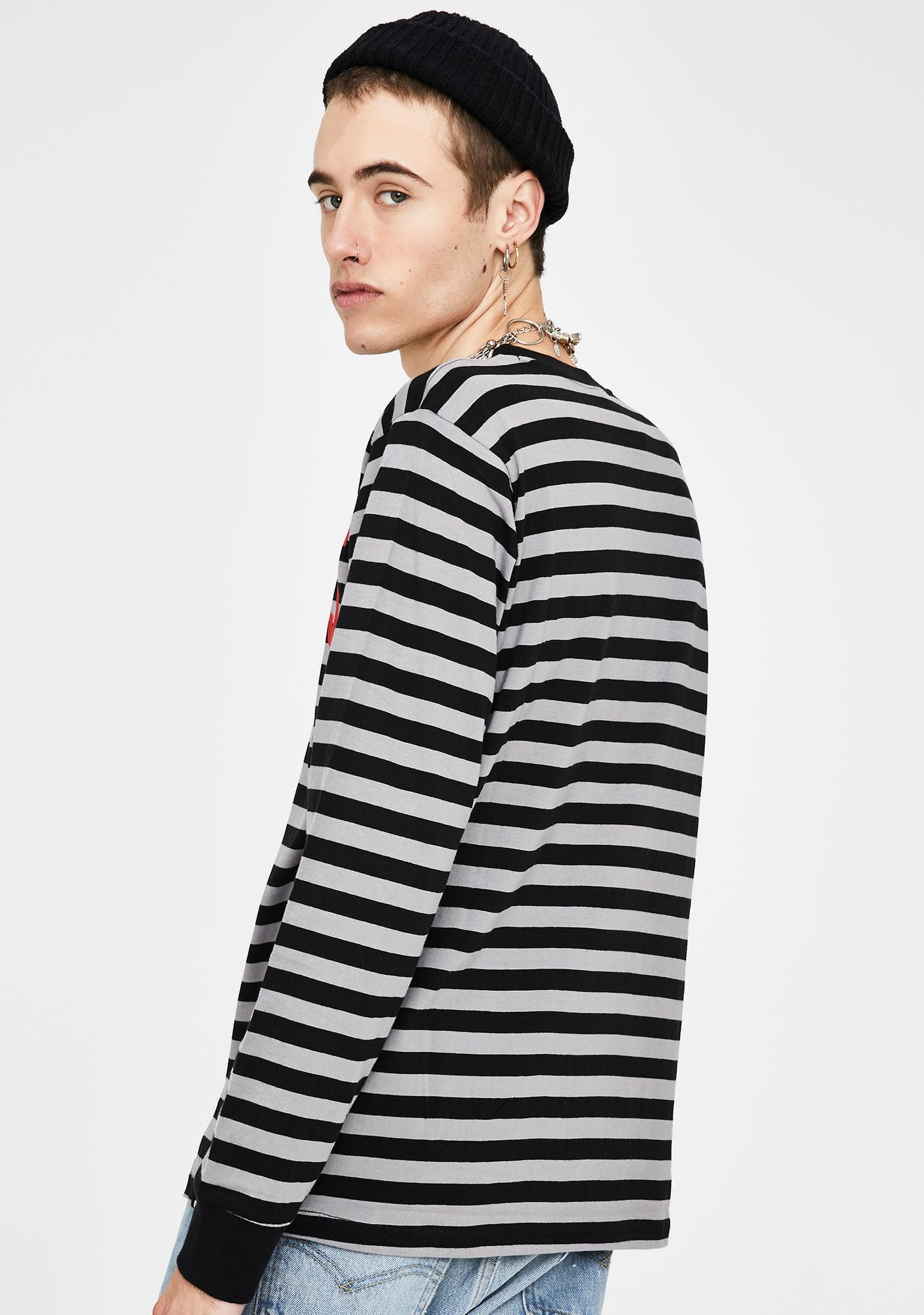BROKEN PROMISES CO Untamed Striped Long Sleeve Tee