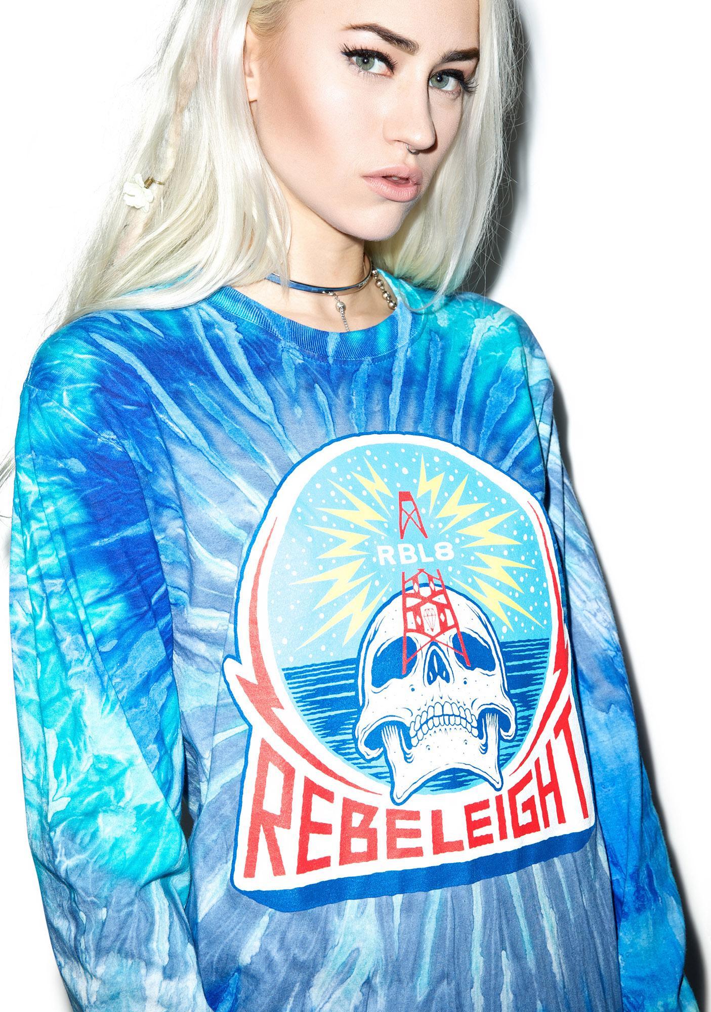 Rebel8 Rebel Transmissions Tie-Dye Long Sleeve Tee