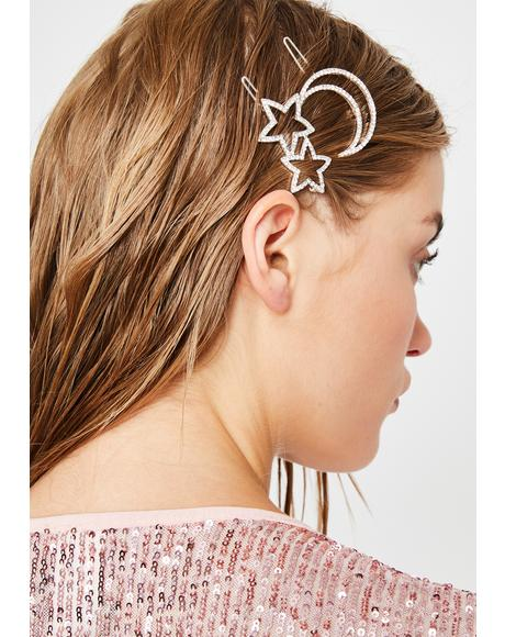 Cosmic Magic Hair Clip Set