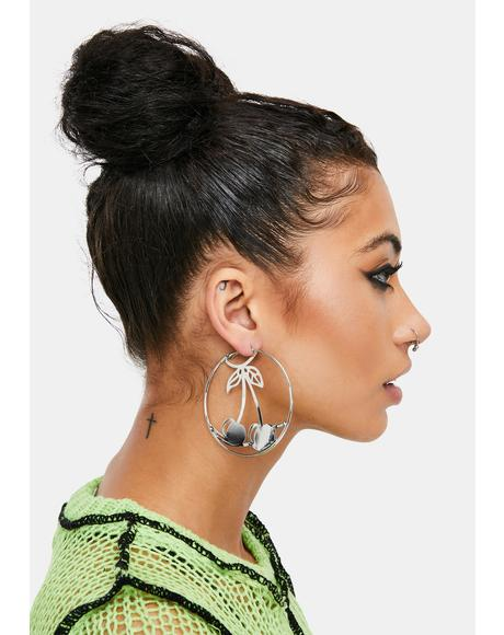 Silver Diva Mood Hoop Earrings