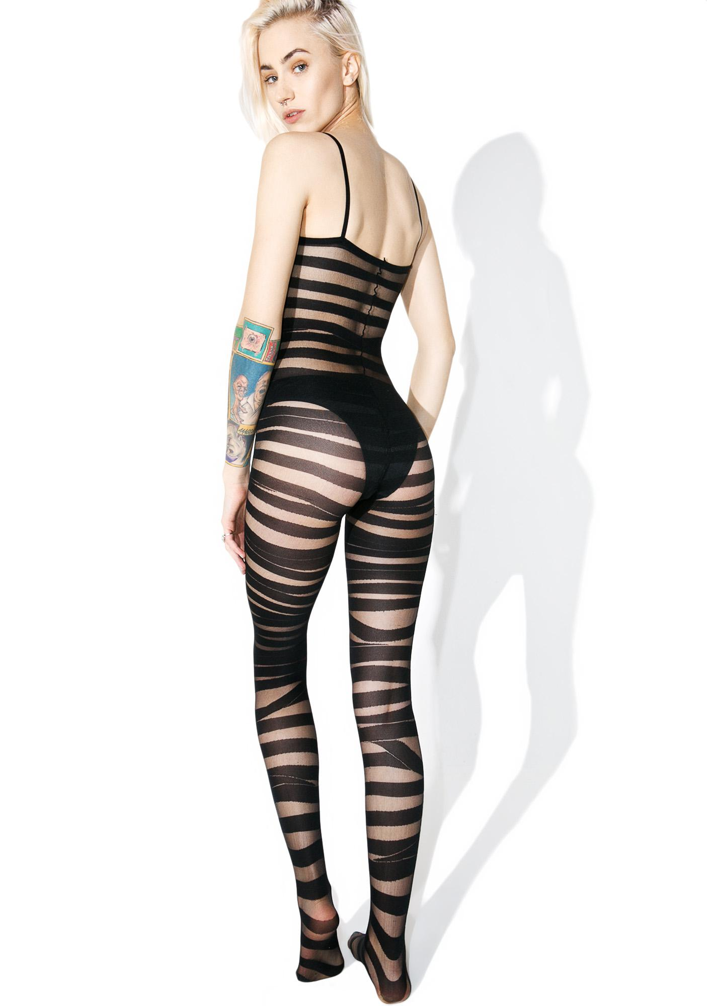 On The Line Printed Bodystocking