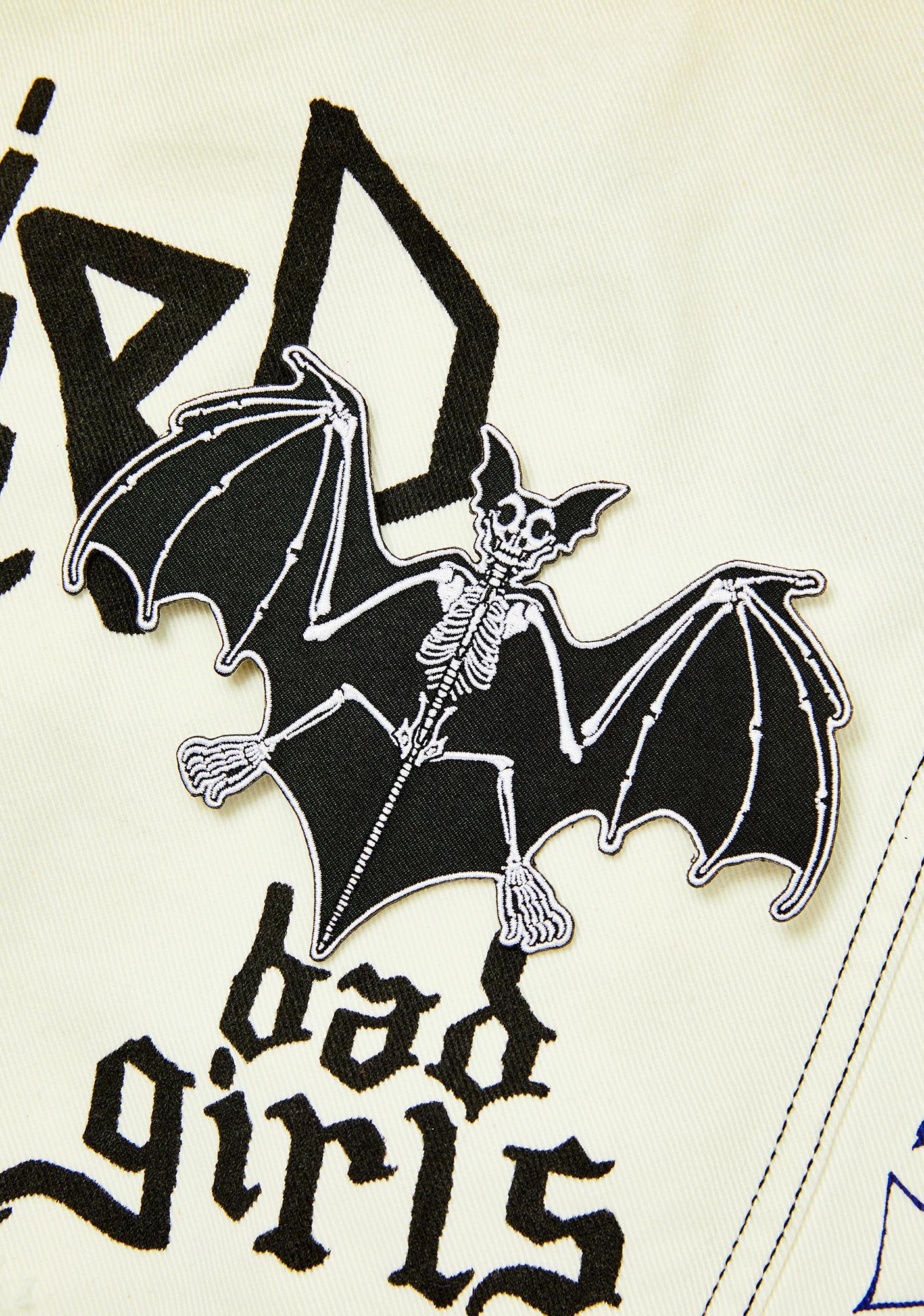 Kreepsville 666 Skelli Bones Bat Patch