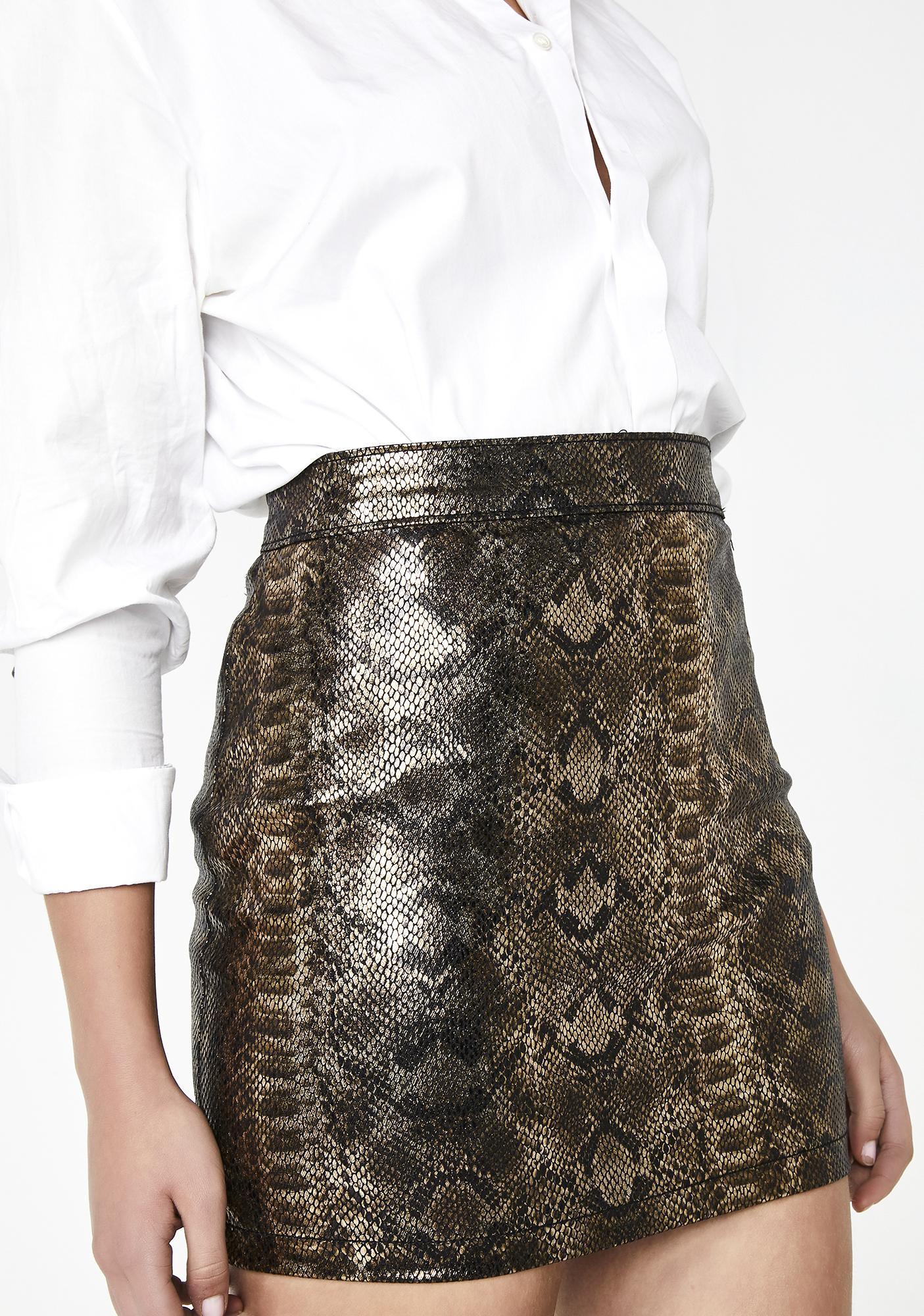 8ea74281eb97 Momokrom Gold Snake Skirt | Dolls Kill
