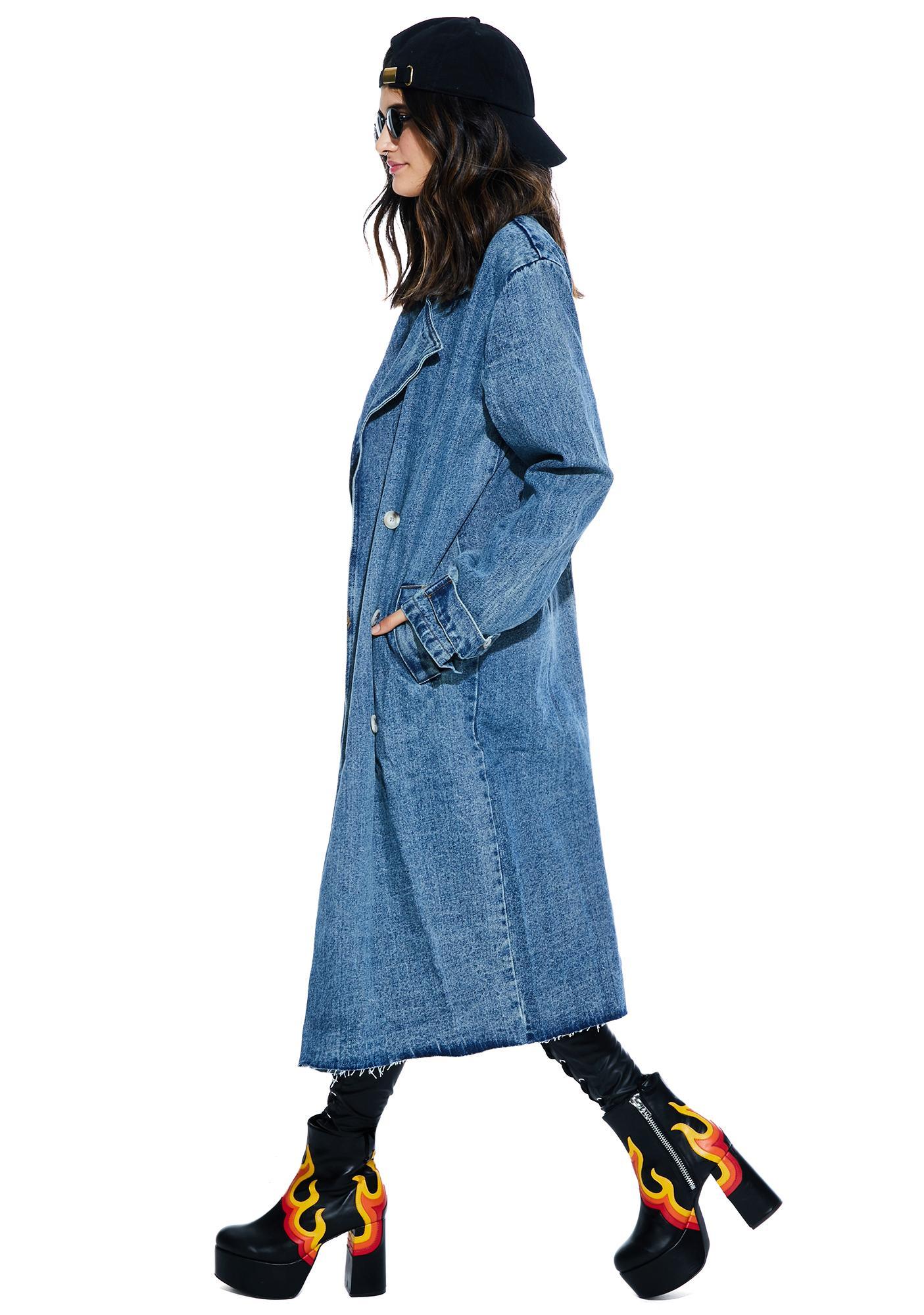 Yamamoto Denim Trench Coat