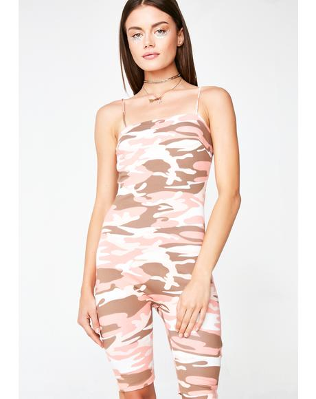 Behind The Scenes Camo Romper