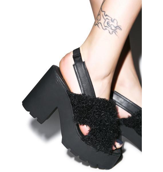 Lina Shaggy Sandals