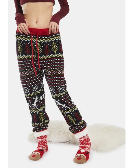 Reindeer Beer Holiday Pants