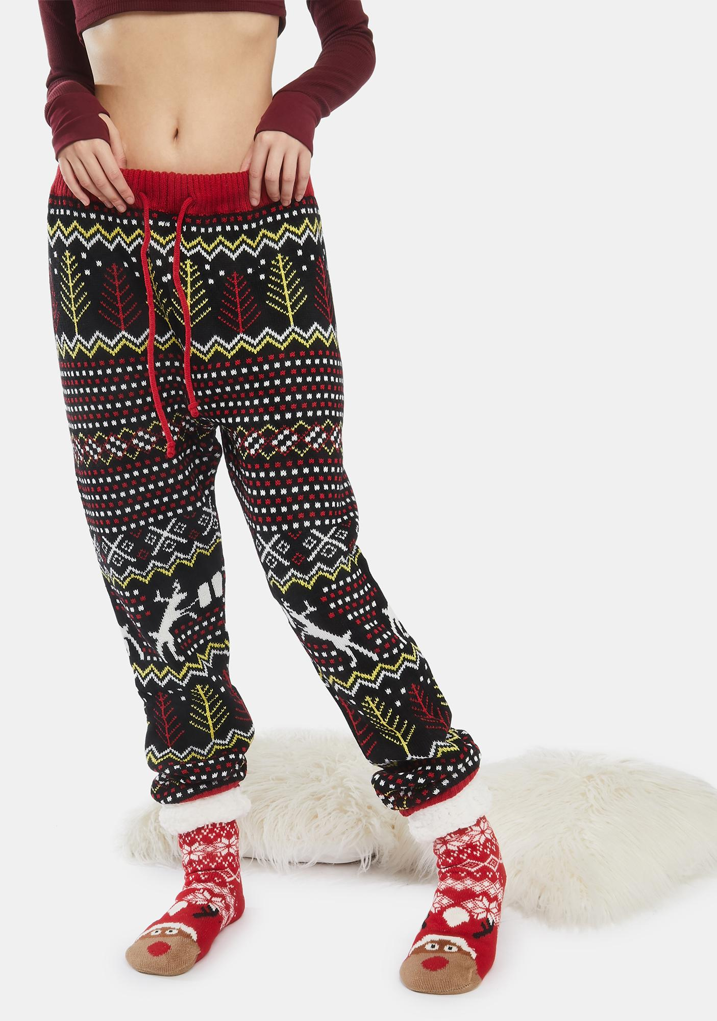American Stitch Reindeer Beer Holiday Pants