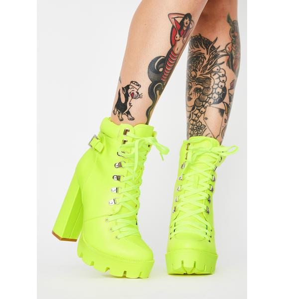 Toxic Chasing Lies Lace Up Boots