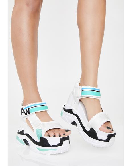 Frosted Pop Life Platform Sandals