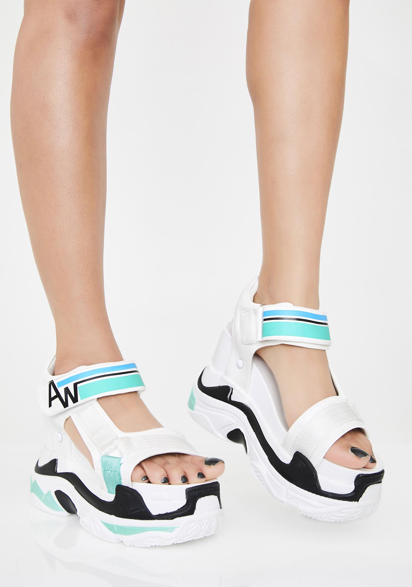 Anthony Wang Frosted Pop Life Platform Sandals