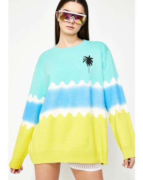 Resort Relaxation Tie Dye Sweater