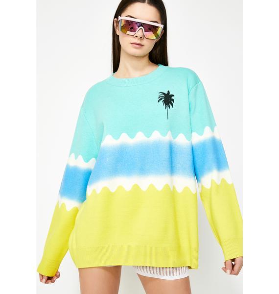 Resort Relaxation Tie Dye Sweater
