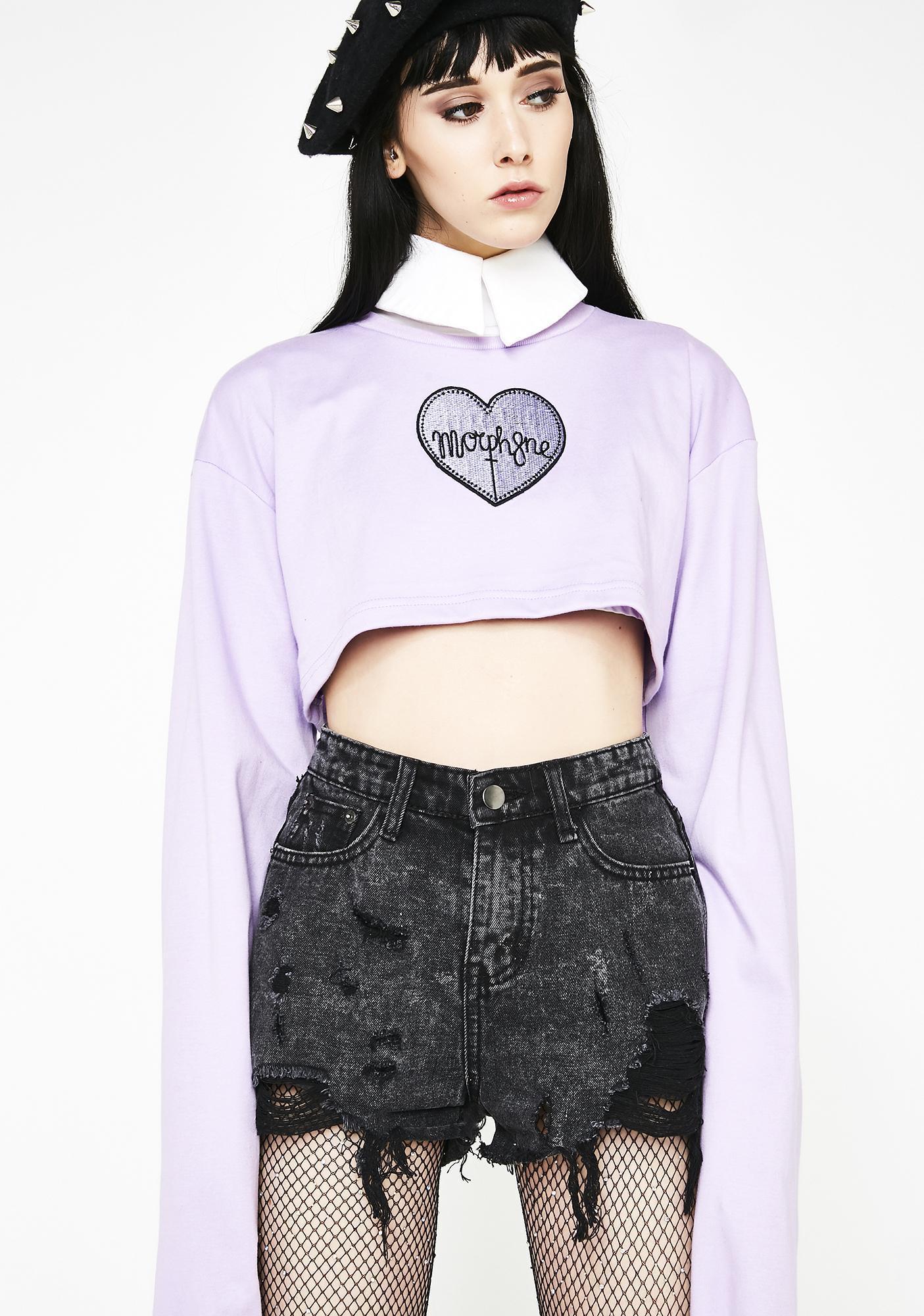 0bea50db43cdc ... Morph8ne Violet Crop Sweater ...