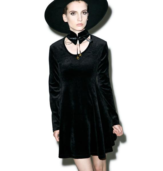 Killstar Pussycat Velvet Skater Dress