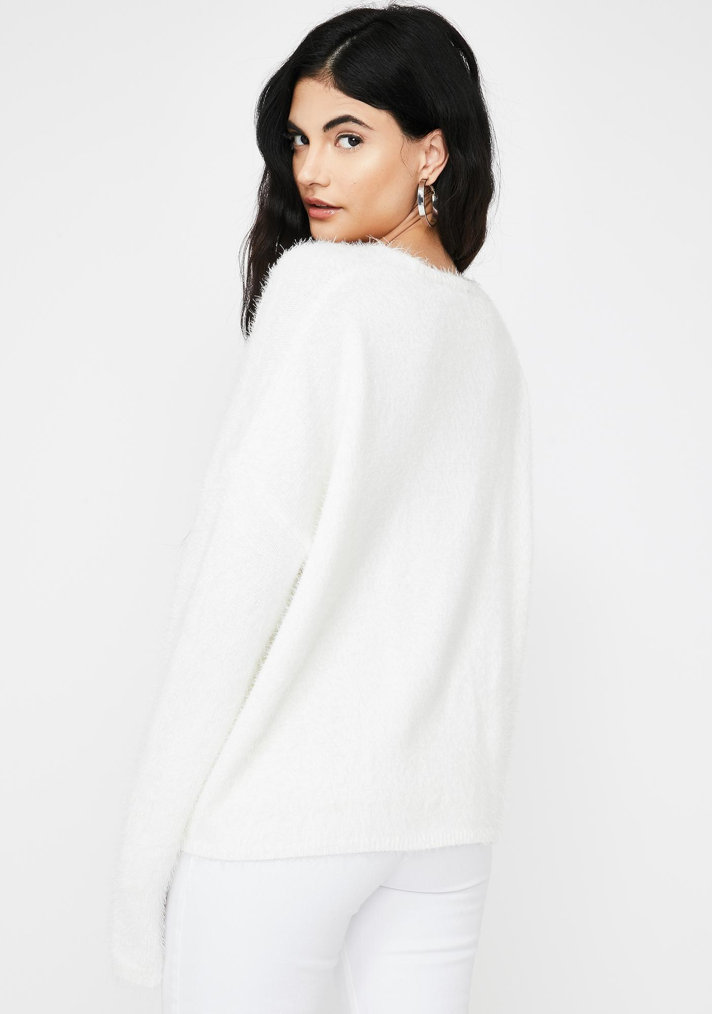 Ivory Chilly Candy Knit Sweater